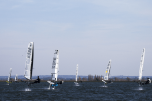 Data to Value Moth Open, many boats racing