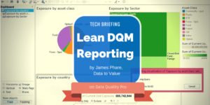 Data Quality Pro webinar on Lean Data Quality Management Reporting